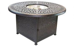 Barbados Alum Metal Fire Table